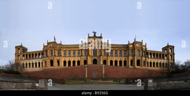 Parlament von Bavaria Maximilianeum München Stockbild