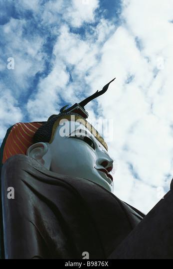 Sitzender Buddha, Amarapura, Myanmar (Burma) Stockbild