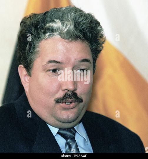 Vorsitzender der nationalen Wiedergeburt Partei Menschen s Will Sergei Baburin Stockbild
