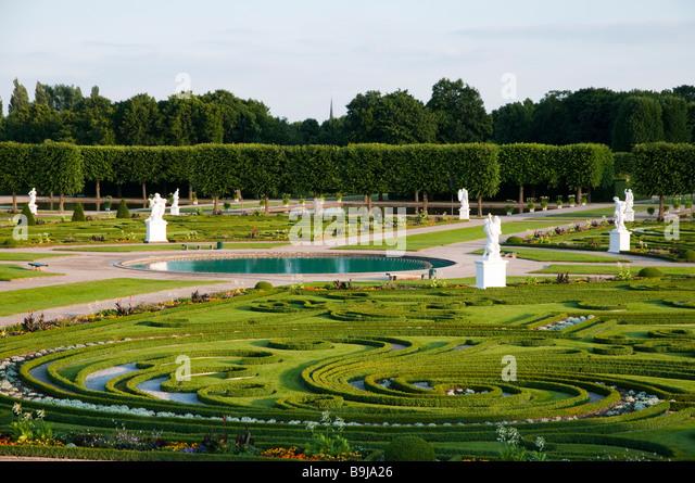 Barockgarten Großer Garten Herrenhausen, Hannover, Niedersachsen, Hannover große Garten Herrenhausen senken Stockbild