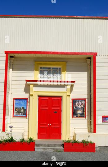 Krummen Meile sprechen Filme bauen, Revell Street, Hokitika, Westland-Distrikt, West Coast, Südinsel, Neuseeland Stockbild