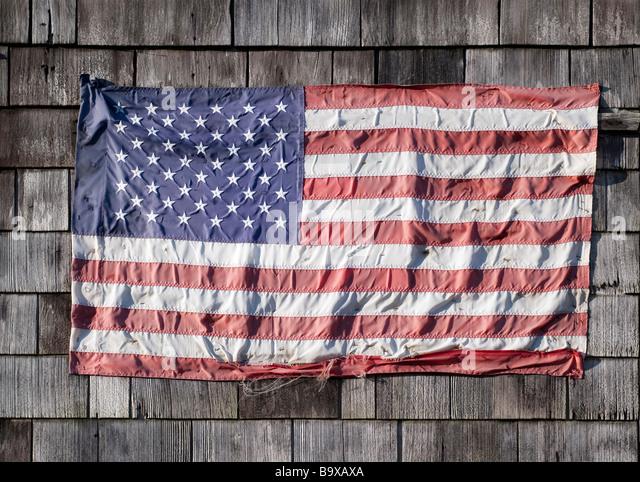 Amerikanische Flagge getragen - Stock-Bilder