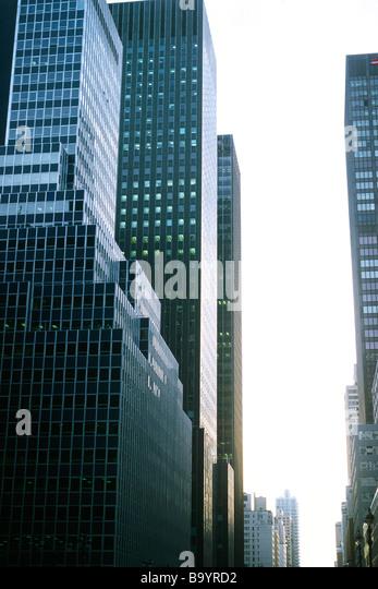 Hochhäuser, beschnitten Stockbild