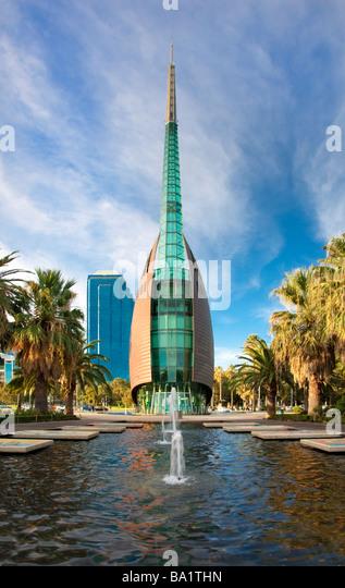 Swan Bell Tower im Kasernenhof in Perth, Australien Stockbild