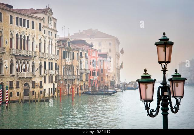 Blick auf den Canal Grande. Venedig, Italien. Stockbild
