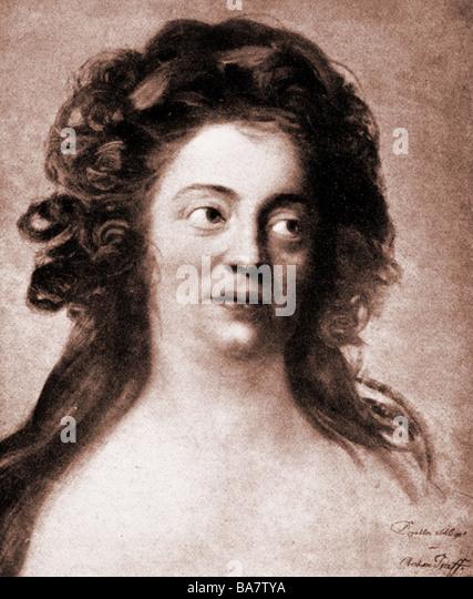 Schlegel, Dorothea Friederike, 24.10.1763 - 3.8.1839, deutscher Autor / Schriftsteller, Porträt, nach Gemälde Stockbild