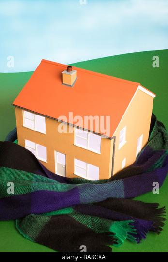 Haus warm Konzept zu halten. - Stock-Bilder
