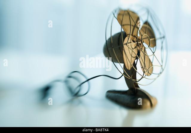 Nahaufnahme eines antiken fan Stockbild