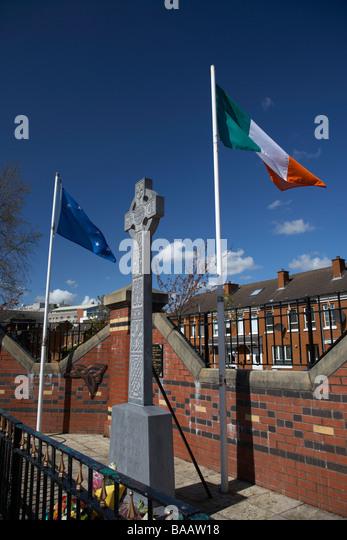 Republikanische Gedenken Garten im Bereich Markets Belfast Nordirland Vereinigtes Königreich Stockbild