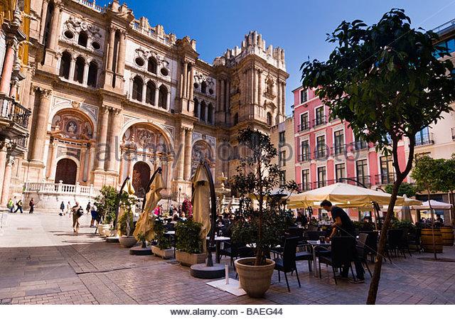 Kathedrale von Malaga, Andalusien, Spanien. Stockbild
