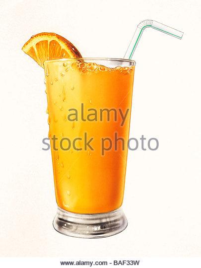 Frisch gepresster Orangensaft Stockbild