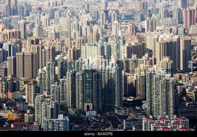 Hochhäuser in shanghai Stockbild