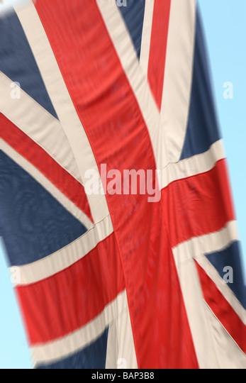 Union Jack-Flagge von Großbritannien Vereinigtes Königreich Stockbild