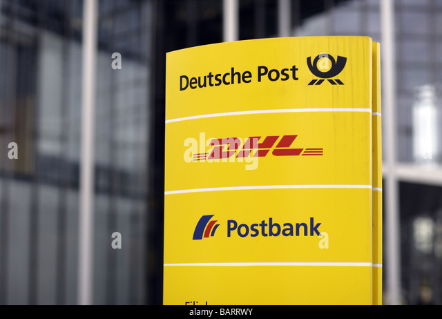 Deutsche Post DHL Postbank Logos Stockbild