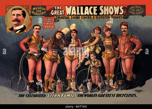: Gefeierte Stirk Familienshows Wallace Stockbild