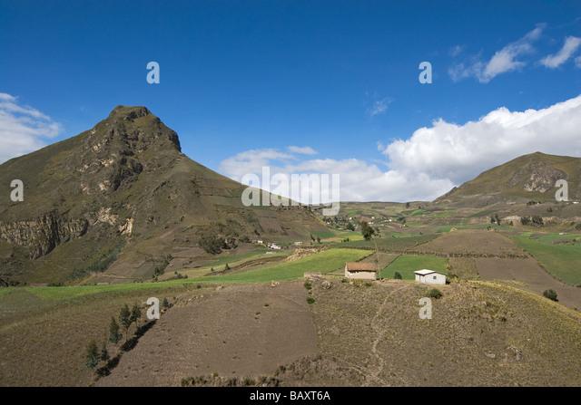 Landschaft auf der Bergstrasse zwischen Zumbahua und Latacunga, Provinz Cotopaxi, Hochland, Ecuador, Südamerika Stockbild