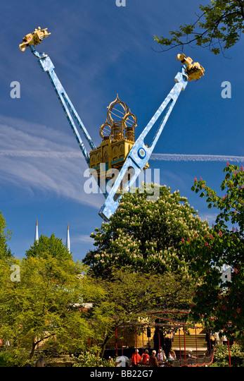 Die Vertigo-Attraktion im Tivoli Kopenhagen Stockbild