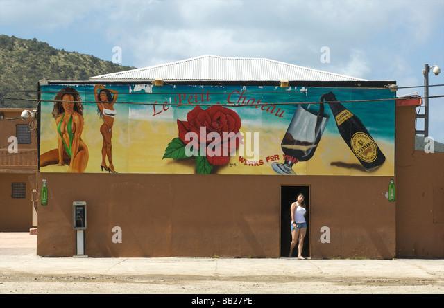 Antillen Antillen Bovenwinden Bovenwindse Karibik niederländische Eiland Eilanden Indies Insel weniger Nederlandse Stockbild