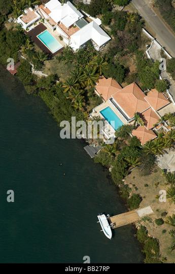 Aerial Antillen Antillen Bovenwinden Bovenwindse Karibik Tag tagsüber niederländischen Eiland Eilanden Stockbild