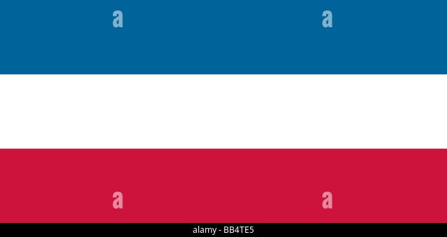Historische Flagge von Serbien und Montenegro (früher die Flagge von Jugoslawien) Stockbild