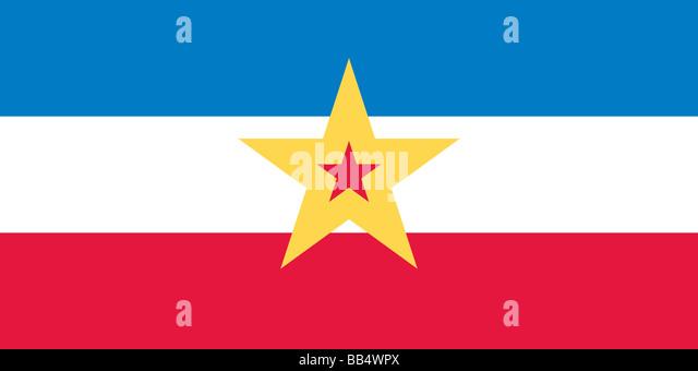 Historische Flagge Jugoslawiens Stockbild