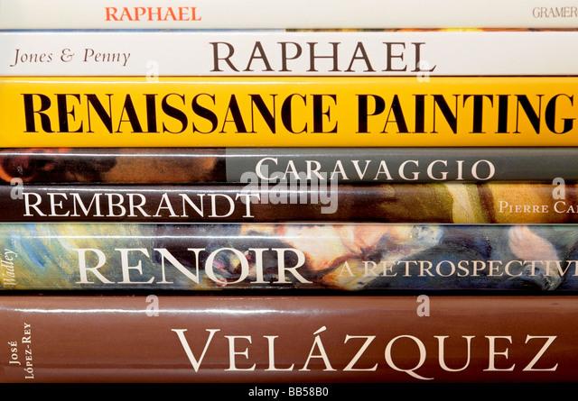 Buchen Sie Stacheln Maler und Gemälde Stockbild