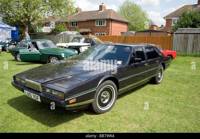 Aston Martin Lagonda Oldtimer, Wallingford Oldtimer-Rallye, Oxfordshire, Vereinigtes Königreich Stockbild