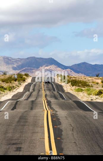 California Highway 98 in der Nähe der mexikanischen Grenze im Imperial County Southern California USA Stockbild