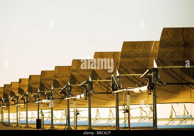 Solar electric Erzeugungsanlage Stockbild