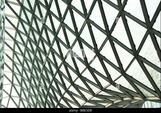 Das Einkaufszentrum MyZeil in Frankfurt Am Main Details Stockbild