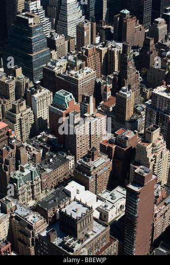 New York City, Luftbild Stockbild