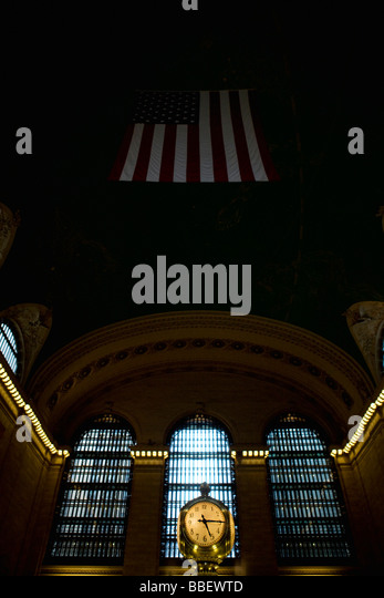 Uhr innerhalb des Grand Central Station, New York City Stockbild