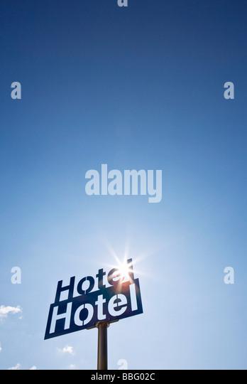 Hotelschild Stockbild