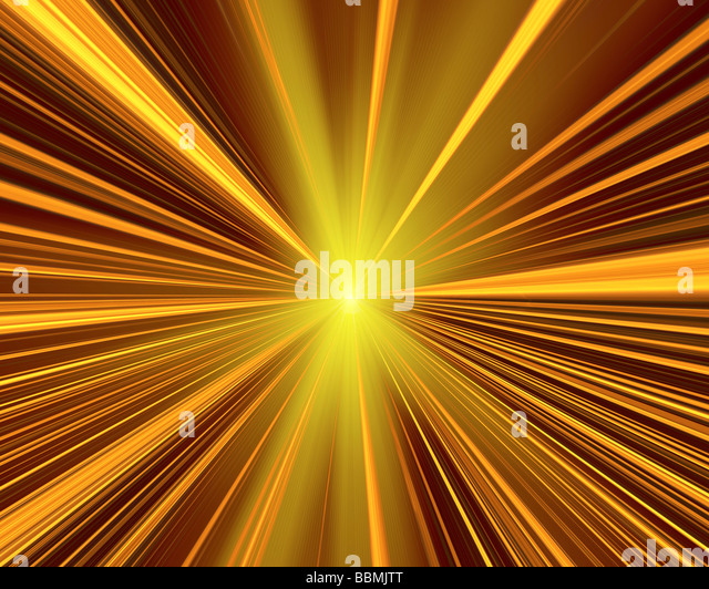 Abstrakte Lichtmuster (Digital Composite) Stockbild