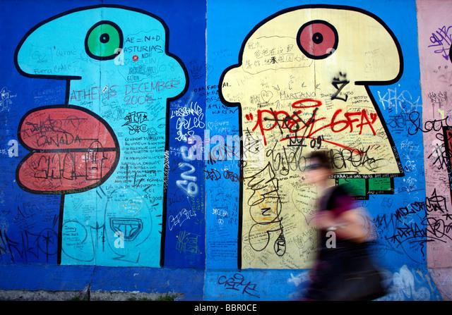 Berliner Mauer Deutschland Stockbild