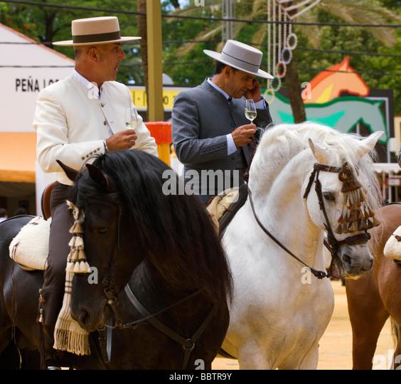 Jerez De La Frontera Horse fair Andalusien Spanien Stockbild