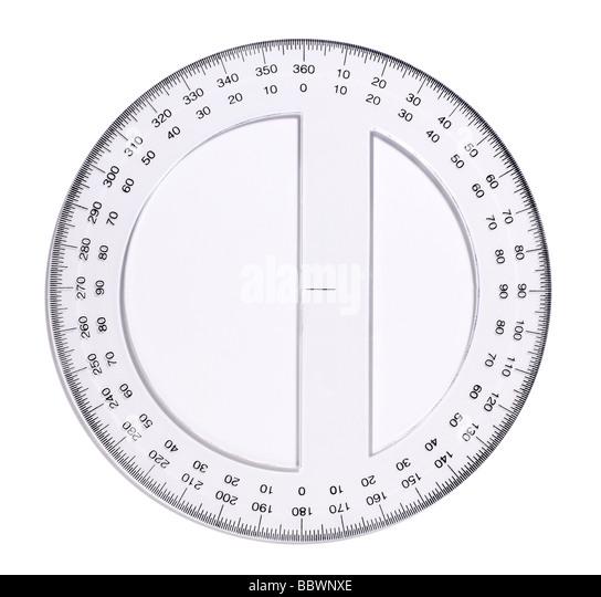 klar Kunststoff Mess-Geräte Winkelmesser Winkelmesser Stockbild
