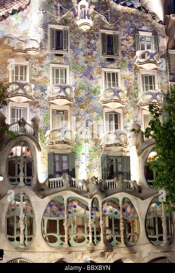 Casa Batllo, Gaudi, Barcelona, Spanien Stockbild