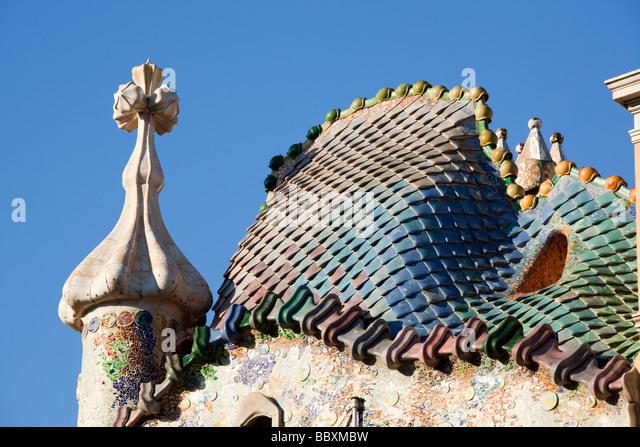 Casa Batllo Barcelona Spanien Stockbild