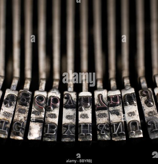 Schreibmaschine Schlüssel Stockbild