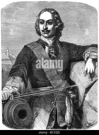 Peter der große (1672-1725), 19. Jahrhundert. Stockbild