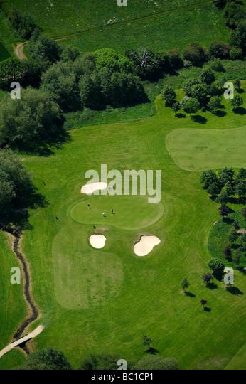 Grün im Barlaston Golf Club, Stein Staffordshire, UK Stockbild