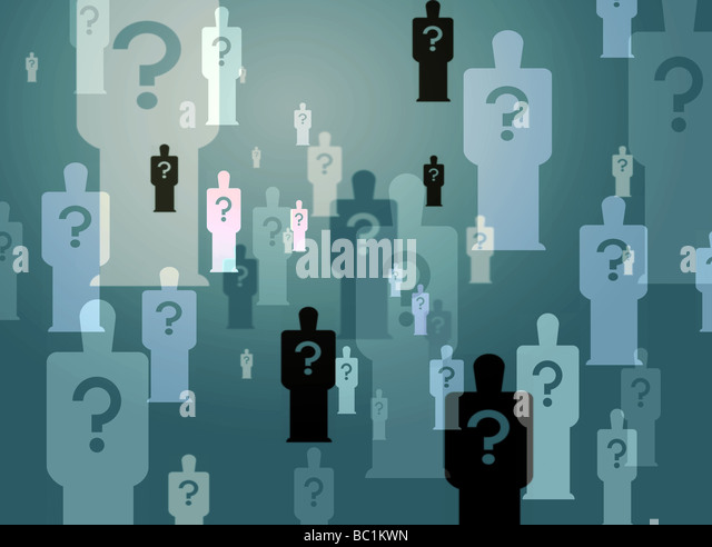 Mystery men Stockbild