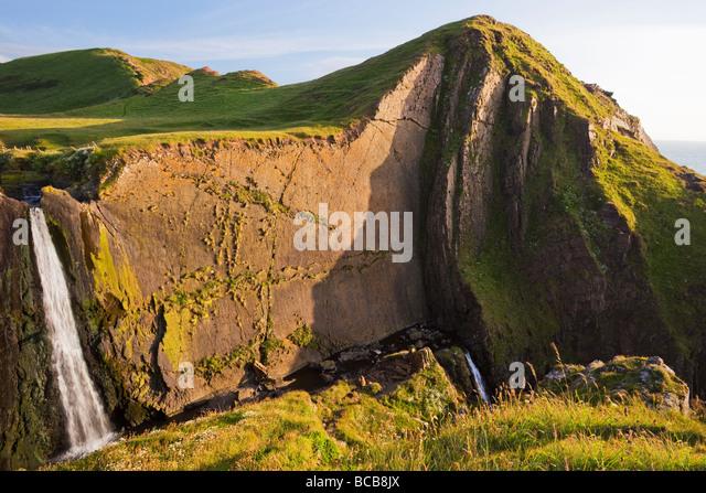 Speke Mühle Mund Wasserfall auf North Devon Heritage Coast Sommersonne England UK United Kingdom GB Großbritannien Stockbild