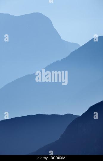 JULISCHEN Alpen - Teil der italienischen Sektion der Julischen Alpen von den Mangrt-Pass gesehen. Slowenien Stockbild