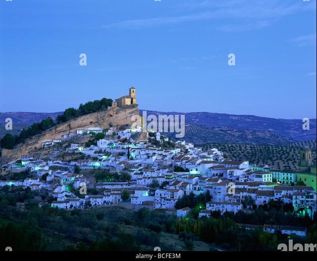 Spanien, Andalusien, die weißen Dörfer, Montefrio Stockbild