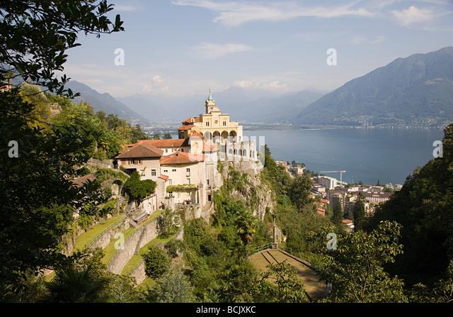 Aufbauend auf einer Klippe Schweizer Wahrzeichen Stockbild