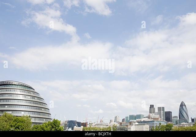 Rathaus und City of london Stockbild