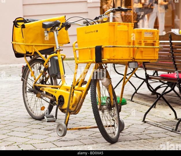 Postmans Fahrrad Deutsche Post, Deutschland, Europa Stockbild