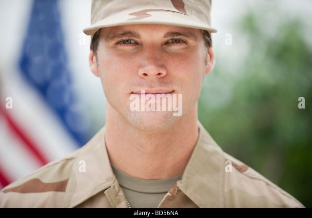 Ein militärischer Offizier Stockbild